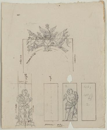 Ornements du premier niveau de la chapelle ronde des Cordeliers.