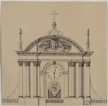 Élévation de la façade supérieure de la cathédrale.