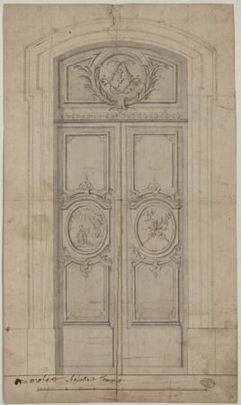 Élévation d'une porte de la cathédrale.