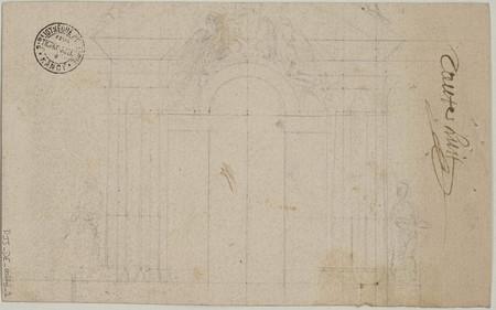 Plan partiel de la façade de la cathédrale