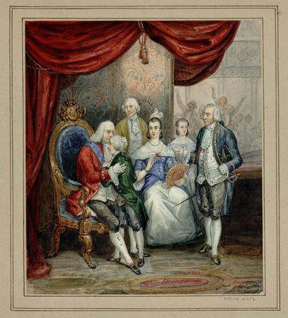 Le roi Stanislas dans une loge de théâtre