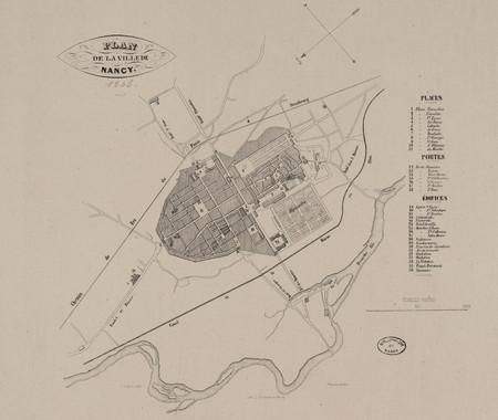 Plan de la ville de Nancy