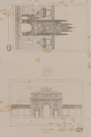Nancy : portail de l'ancien Palais ducal. Nancy : Porte-Neuve face extérie…
