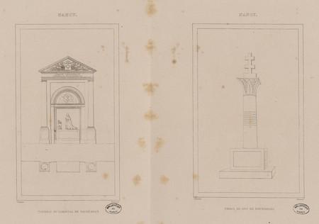 Nancy : tombeau du cardinal de Vaudémont. Nancy : croix du duc de Bourgogne