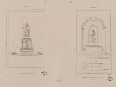 Nancy : statue de Stanislas. Nancy : tombeau de Gérard d'Alsace