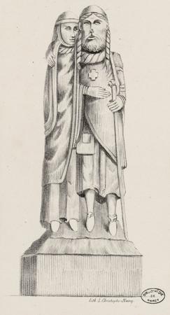 Statue du tombeau de Gérard Ier de Vaudémont et d'Hedwige de Dagsbourg