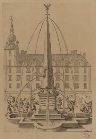 Projet de fontaine à élever sur la place du marché en l'honneur de Charles…