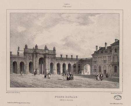 Porte Royale, côté de la Carrière : Nancy (Ville neuve)