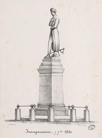 Inauguration, 7 7bre [Septembre] 1850 : [Statue de M. Mathieu de Dombasle]