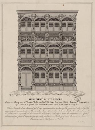 Monument du 17e siècle situé à Nancy, rue Saint-Pierre (ville-vieille), n°…