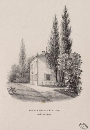 Vue du Pavillon d'habitation du côté du Jardin
