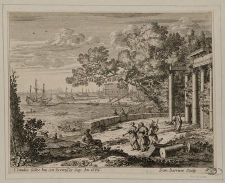 Paysage portuaire antique