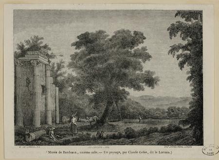Musée de Bordeaux, sixième salle. Un paysage, par Claude Gelée, dit le Lor…