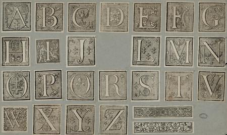 Lettres ornées et motifs décoratifs