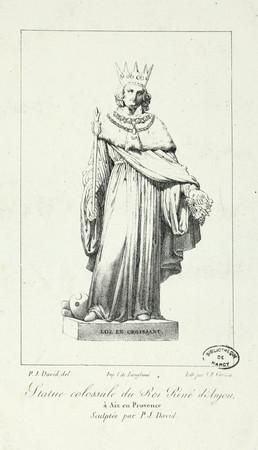 Statue colossale du Roi René d'Anjou à Aix en Provence, sculptée par P-J. …