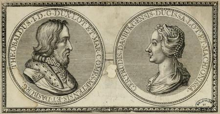 Portraits de Thiébaud 1er de Lorraine et de Gertrude de Dabo