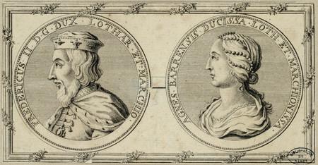 Portraits de Ferry II et Agnès de Bar