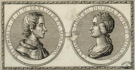 Portraits de Mathieu II et de Catherine de Limbourg