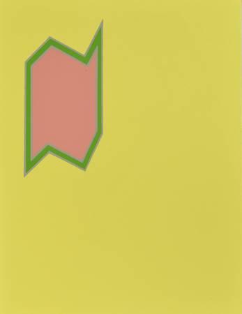 Formes géométriques sur fond jaune