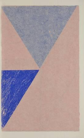 Triangles bleus et roses