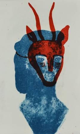 Masque rouge d'antilope