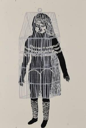 La jeune fille en cage