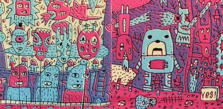 Personnages imaginaires colorés