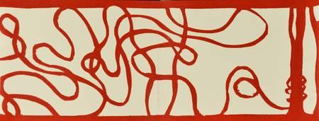 La bobine de fil rouge