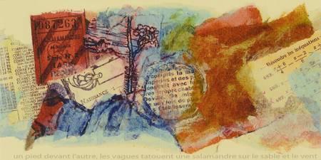 Une page de peinture et de collage de ticket