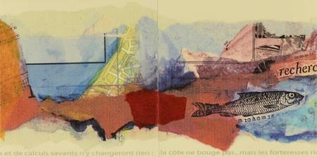 Une page de peinture et de collage de carte