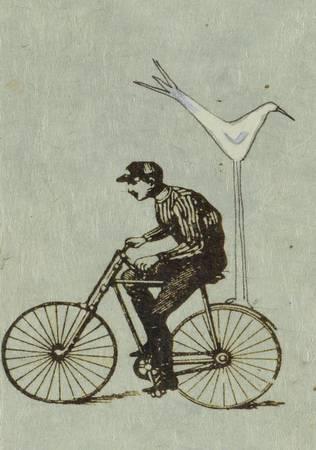 Le cycliste et l'oiseau