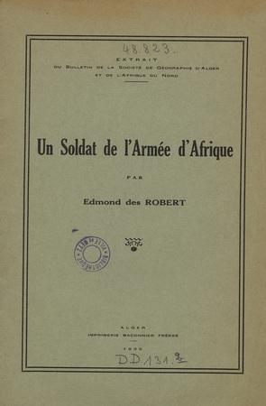 Un soldat de l'armée d'Afrique