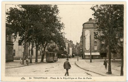 Thionville - Place de la République et Rue de Paris