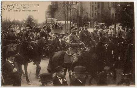 Metz 19 novembre 1918. L'État Major de la suite du Maréchal Pétain