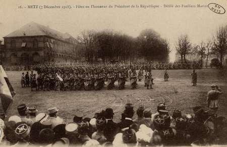 Metz 7 décembre 1918. Fêtes en l'honneur du Président de la République. Dé…