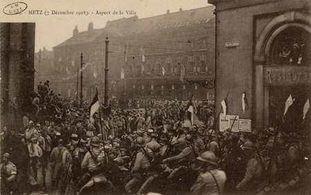Metz 7 décembre 1918. Aspect de la Ville