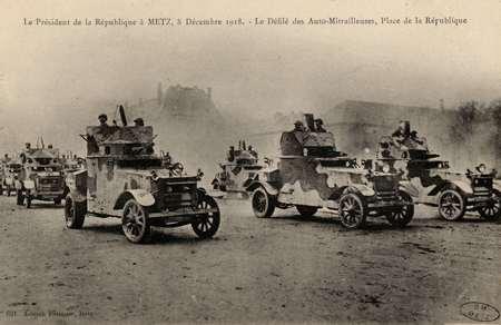 Le Président de la République à Metz, 8 décembre 1918. Le Défilé des Auto-…