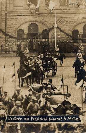 Entrée du Président Poincaré à Metz