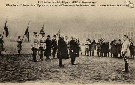 Le Président de la République à Metz, 8 décembre 1918. L'allocution du Pré…