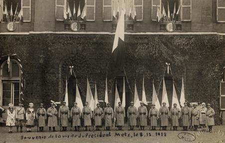 Souvenir de la visite du Président Metz, le 8 décembre 1918