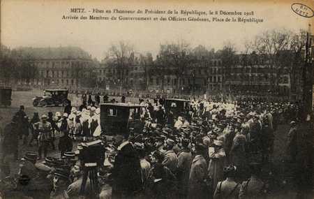 Fêtes en l'honneur du Président de la République, le 8 décembre 1918. Arri…
