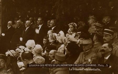 Souvenirs des Fêtes de la Libération d'Alsace Lorraine. Metz.  La Tribune …