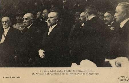 Visite Présidentielle, à Metz, le 8 décembre 1918.M. Poincaré et M. Clémen…
