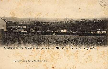 Totalansicht von Queuleu aus gesehen.  Metz. Vue prise de Queuleu