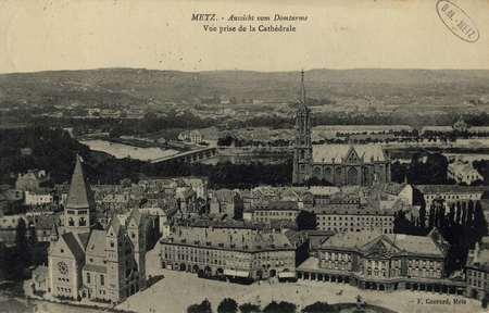 Metz. Vue prise de la cathédrale