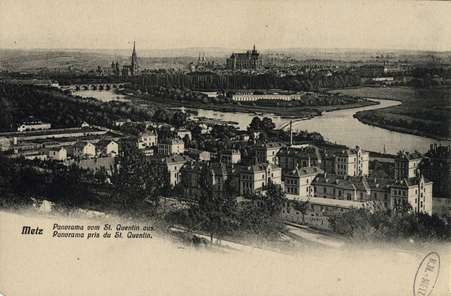 Metz. Panorama pris du St. Quentin