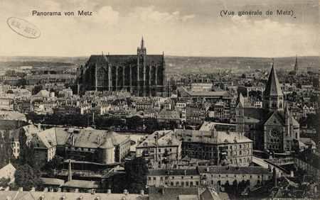 Vue générale de Metz