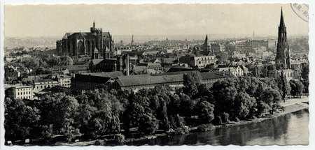 Metz. Vue générale et la Cathédrale