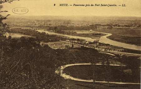 Metz. Panorama pris du Fort Saint Quentin,-LL