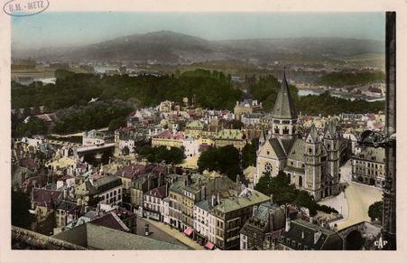 Metz. Vue générale vers le Mont ST Quentin
